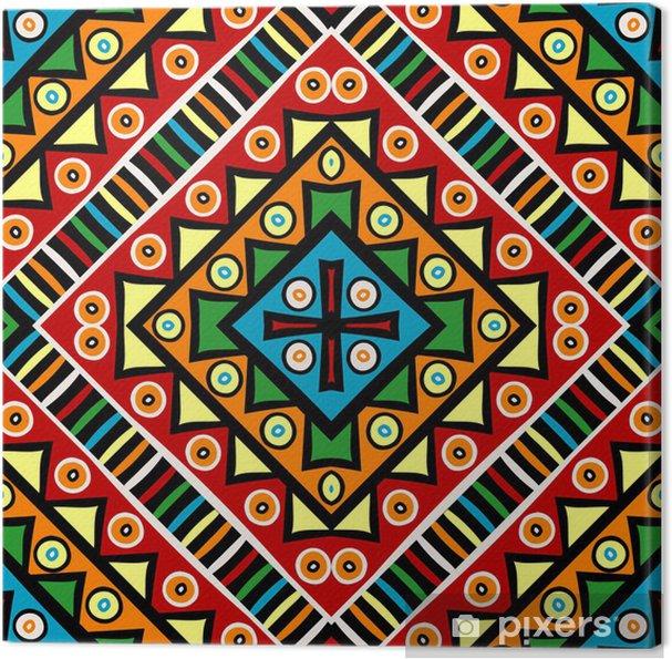 Tableau sur toile Texture religieuse avec des motifs ethniques - Arrière plans