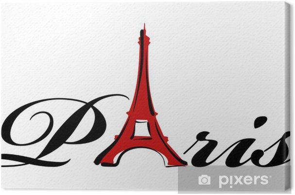 Tableau sur toile Thème Paris - Villes européennes