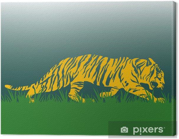 Tableau sur toile Tiger seitlich - Mammifères