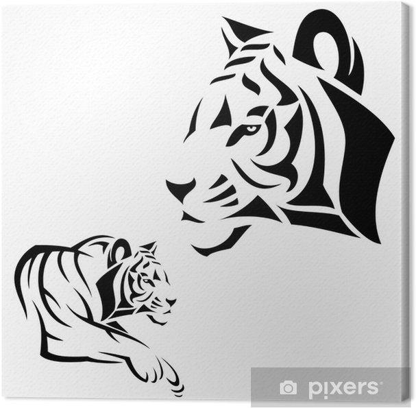 Tableau sur toile Tigre de tatouage - Mammifères