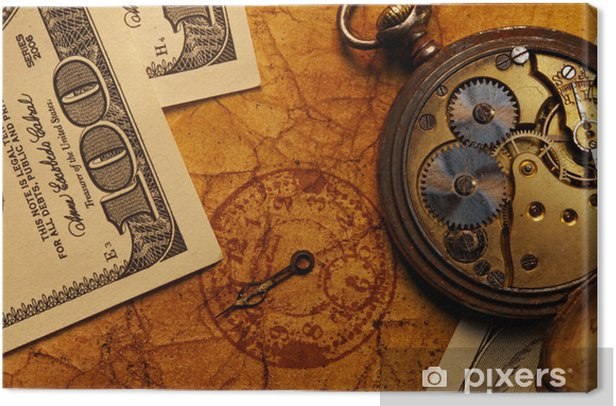 Tableau sur toile Time is money concept - Styles