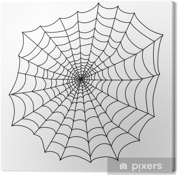 Tableau Sur Toile Toile D Araignée Noire Pour La Fête D Halloween Vecteur