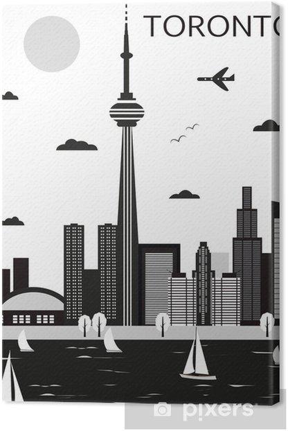 Tableau sur toile Toronto. Canada. Vecteur - Amérique