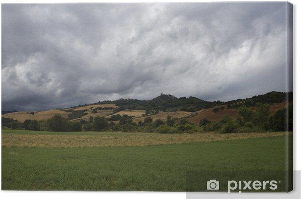 Tableau sur toile Toscane paysage autour de Pienza, au sud de la Toscane, Italie - Europe
