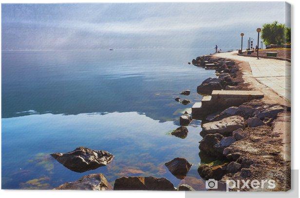 Tableau sur toile Tôt le matin sur la plage - Eau