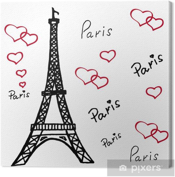 Tableau sur toile Tour Eiffel à Paris - Monuments