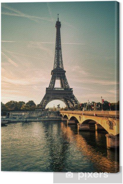 Tableau sur toile Tour Eiffel Paris France - Thèmes