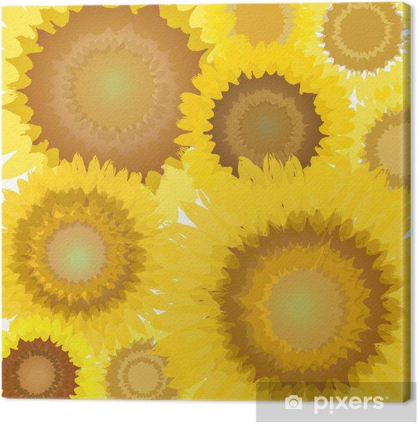 Tableau sur toile Tournesol floral - Saisons