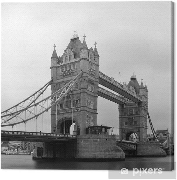 Tableau sur toile Tower Bridge en noir et blanc - Thèmes