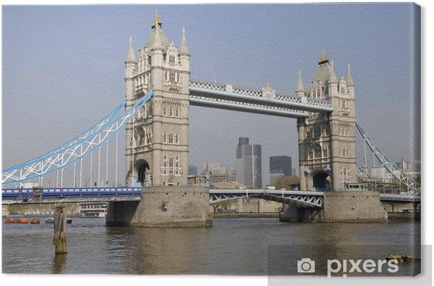 Tableau sur toile Tower Bridge et la City de Londres - Thèmes