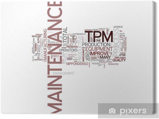 Tableau sur toile TPM Total Maintenance Productive - Signes et symboles