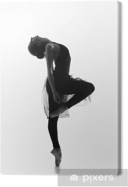 Tableau Sur Toile Trace Noir Et Blanc De La Jeune Belle Danseuse De Ballet