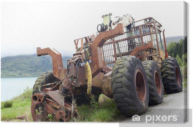 Tableau sur toile Tracteur abandonné - Agriculture