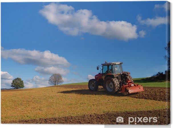 Tableau sur toile Tracteur agricole - Thèmes