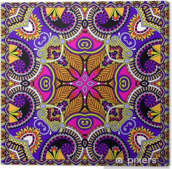 Tableau sur toile Traditionnel ornement floral paisley bandana - Styles