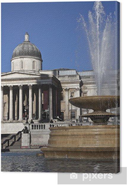 Tableau sur toile Trafalgar Square - Villes européennes