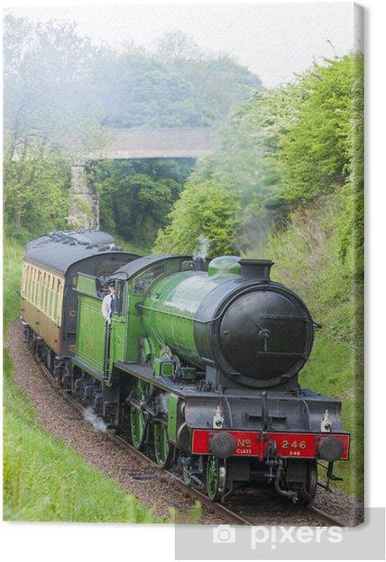 Tableau sur toile Train à vapeur, Bo'Ness Kinneil Railway, Lothian, en Écosse - Thèmes