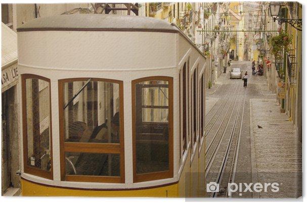 Tableau sur toile Tramway lisbon - Chemin de fer