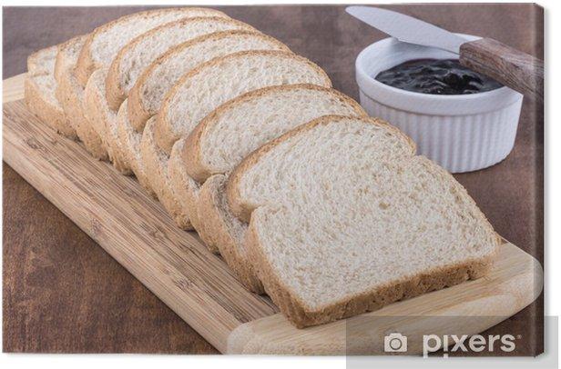 Tableau sur toile Tranches de pain de blé - Thèmes