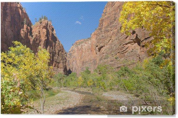 Tableau sur toile Tranquille Canyon Scène - Amérique