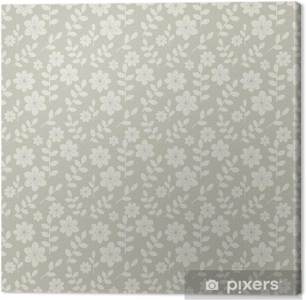 Tableau sur toile Transparente motif floral - Mode