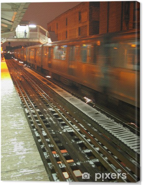 Tableau sur toile Transport public 1 - Les gares et le métro