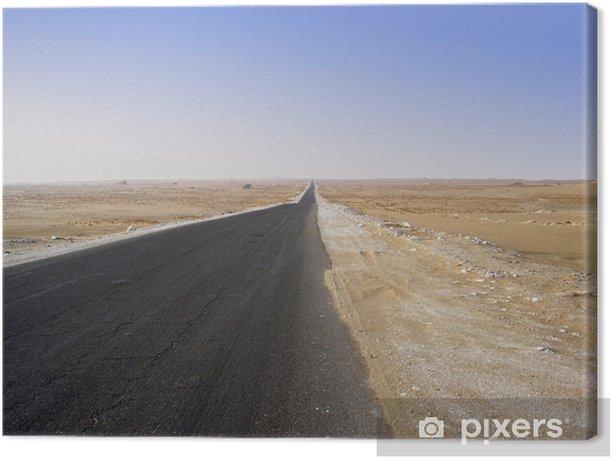 Tableau sur toile Traversée du désert - Infrastructures