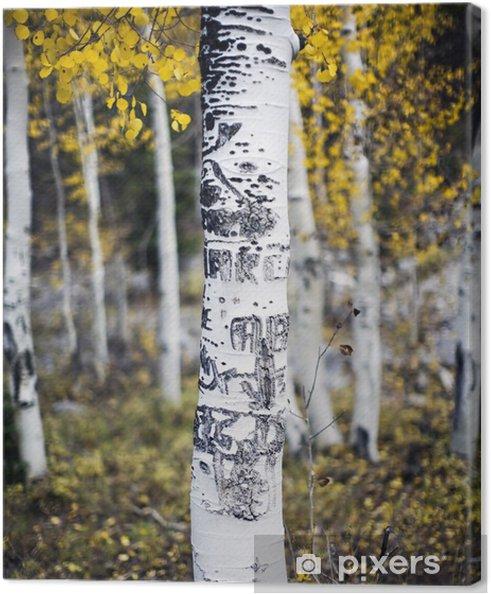 Tableau sur toile Tremble, avec des sculptures - Forêt