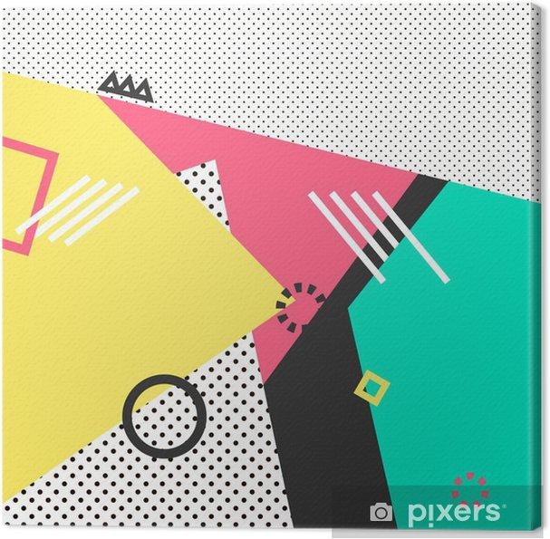 Tableau sur toile Trendy géométriques cartes éléments memphis. Rétro texture de style, le motif et des éléments géométriques. affiche moderne abstraite de conception, couverture, conception de cartes. - Ressources graphiques
