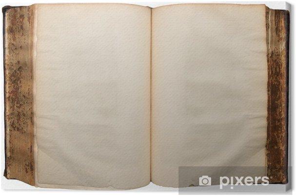 Tableau Sur Toile Tres Ancien Livre Ouvert Sur Les Feuilles Vides Fond Blanc Pur