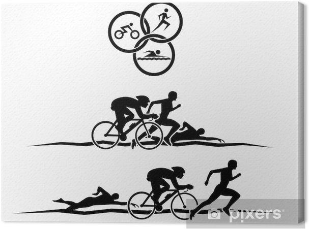 Tableau sur toile Triathlon - Sports individuels