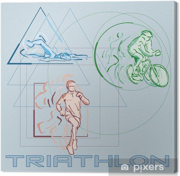 Tableau sur toile Triathlon - Sports aquatiques