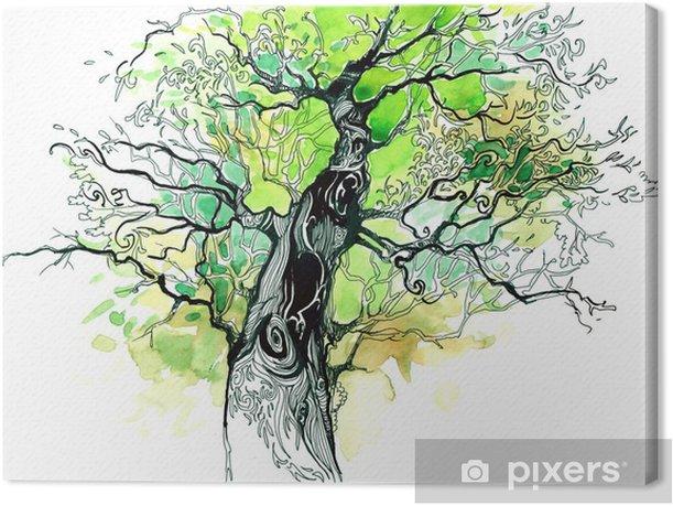 Tableau sur toile Tronc d'arbre - iStaging
