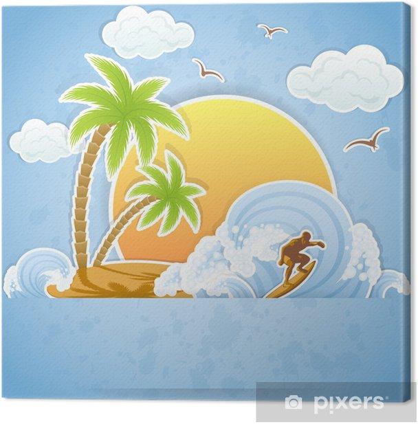 Tableau sur toile Tropical island - Thèmes