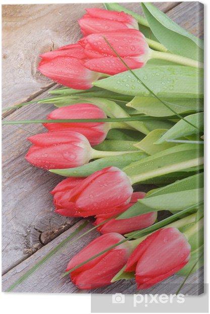 Tableau sur toile Tulipes au printemps - Thèmes