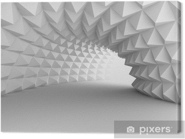 Tableau sur toile Tunnel d'architecture abstraite avec fond clair - Bâtiments et architecture
