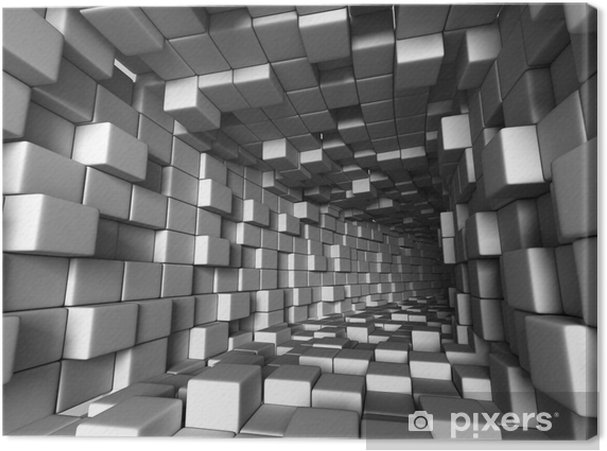 Tableau sur toile Tunnel d'architecture abstraite avec fond clair - Ressources graphiques
