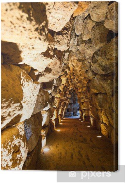 Tableau sur toile Tunnel nuraghe Santu Antine - Voyages