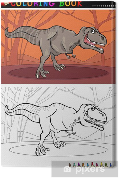Tableau sur toile Tyrannosaurus rex pour la coloration - Education