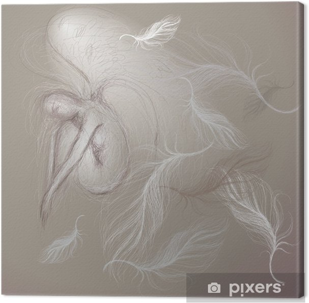 Tableau sur toile Un ange à la paix / Fine esquisse - Beauté et soins du corps