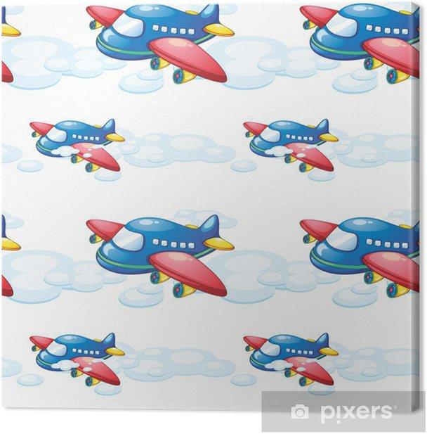 Tableau sur toile Un avion - Pour enfant 5 ans
