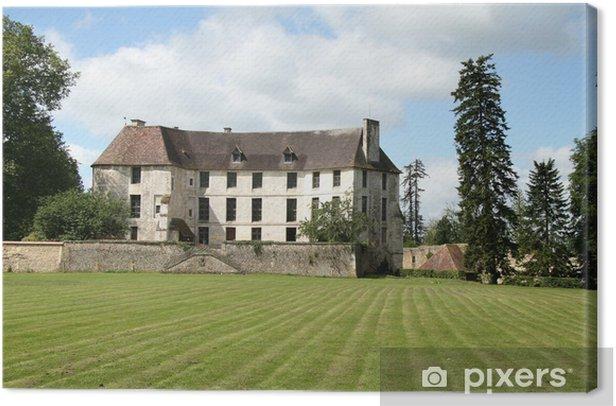 Tableau sur toile Un château en Normandie France avec le parc et pelouse à l'avant - Monuments