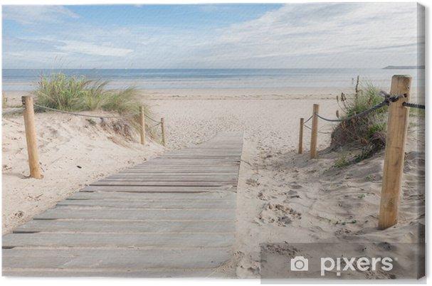 Tableau sur toile Un chemin vers la plage - Destin