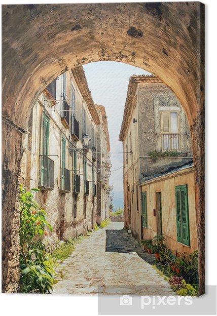 Tableau sur toile Un coin pittoresque de la Toscane, Italie -