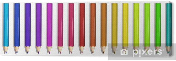 Tableau sur toile Un groupe de crayons de couleurs - Autres objets