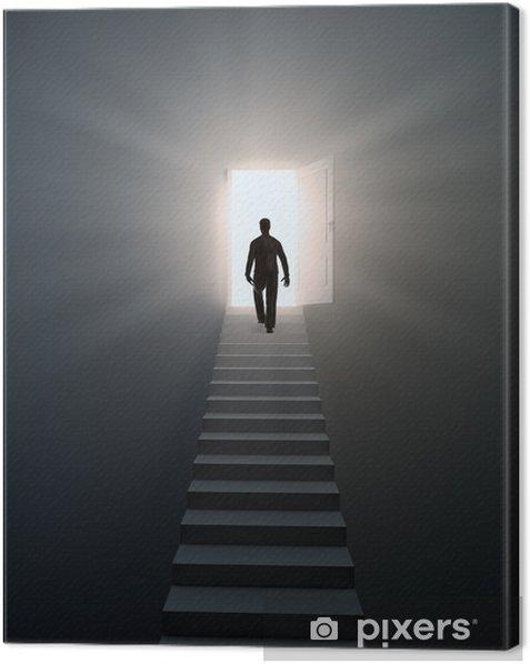 Tableau sur toile Un homme marchant dans les escaliers - Thèmes