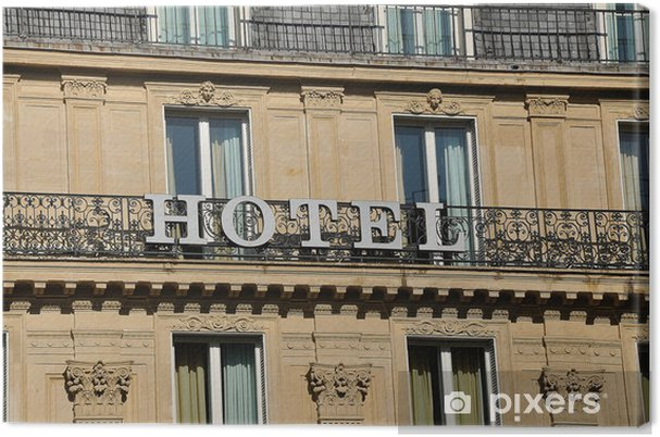 Tableau Sur Toile Un Hôtel Dans Un Immeuble Haussmannien Pixers