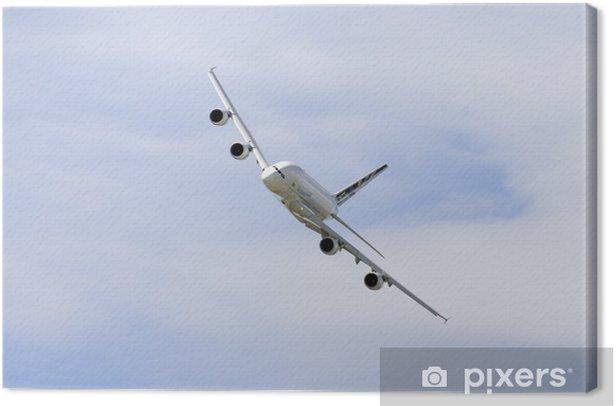 Tableau sur toile Un jet 380 Airbus de passagers en vol - Thèmes