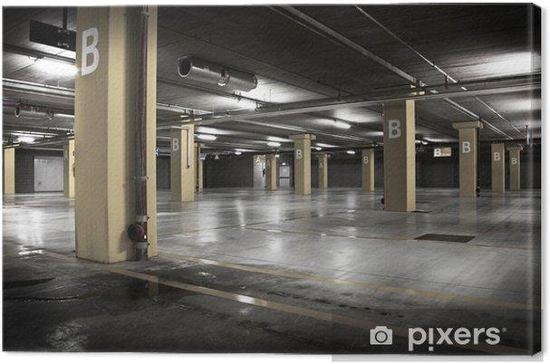 Tableau sur toile Un parking souterrain - Bâtiments et architecture