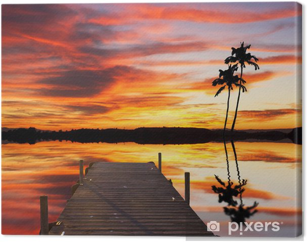 Tableau sur toile Un rincon tropicale - Vacances